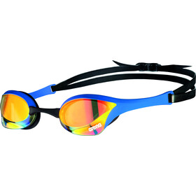 arena Cobra Ultra Swipe Mirror Okulary pływackie, yellow copper/blue